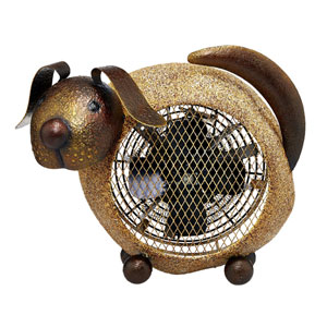 Brown Dog Figurine Heater Fan