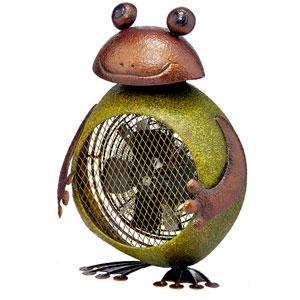 Green Frog Figurine Heater Fan