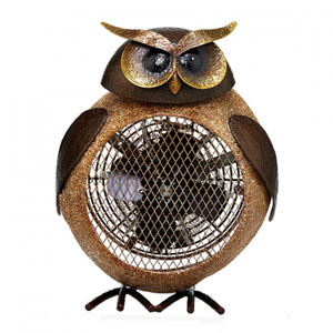 Brown Owl Figurine Heater Fan