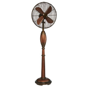 Rhythm Mahogany Brown 16-Inch Floor Fan