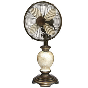 Embrace Cream 10-Inch Table Fan