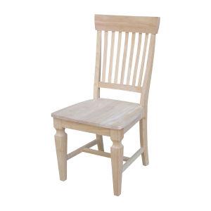 Beige Slat Back Chair, Set of 2