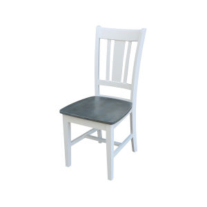 San Remo White and Heather Gray Splatback Chair