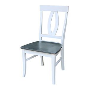 Cosmo White and Heather Gray Verona Dining Chair- Set of Two