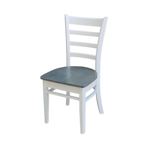 Emily White and Heather Gray Side Chair