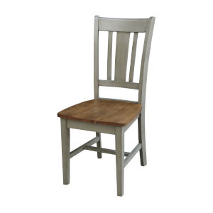 San Remo Hickory and Stone Splatback Chair