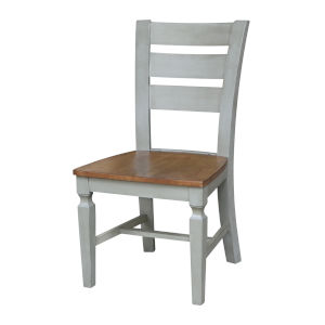 Vista Hickory Stone Ladder Back Chair, Set of Two
