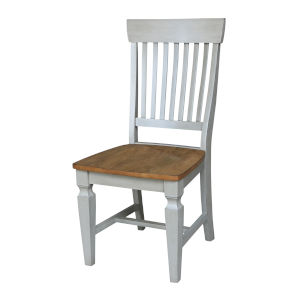 Vista Hickory Stone Slat Back Chair, Set of Two