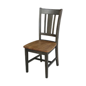 San Remo Hickory and Washed Coal Splatback Chair, Set of 2