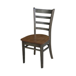Emily Hickory and Washed Coal Side Chair, Set of 2