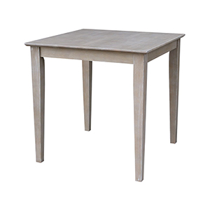 Weathered Gray Solid Wood 30-Inch x 30-Inch Dining Table
