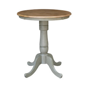 Hickory and Stone 30-Inch Width x 35-Inch Height Round Top Counter Height Pedestal Table