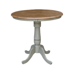 Hickory and Stone 36-Inch Width x 35-Inch Height Hardwood Round Top Counter Height Pedestal Table
