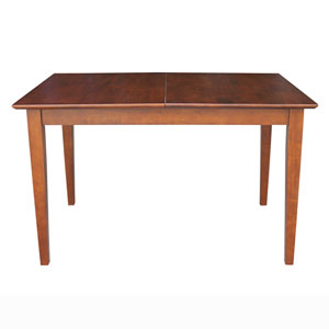 Espresso 32 x 30-Inch Shaker Styled Leg Butterfly Extension Table