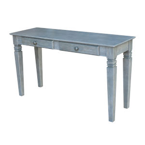 Java  Heather Grey 52-Inch  Console Table with Two Drawers