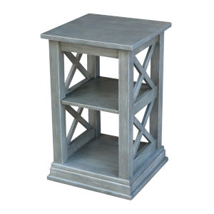 Hampton  Heather Grey 16-Inch  Accent Table with Shelves