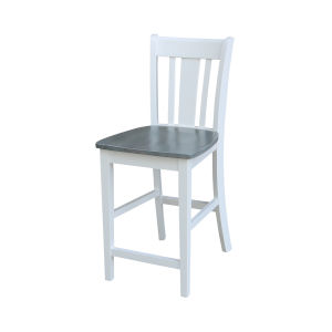 San Remo White and Heather Gray Counterheight Stool
