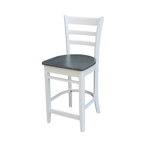 Emily White and Heather Gray Counterheight Stool
