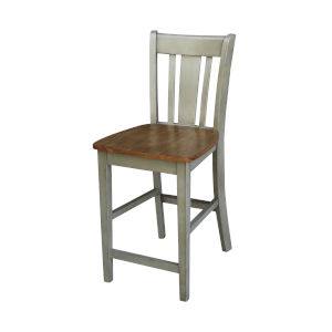 San Remo Hickory and Stone Counterheight Stool