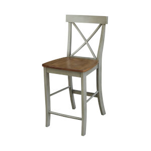Hickory and Stone X-Back Counterheight Stool
