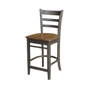 Emily Hickory and Washed Coal Counterheight Stool
