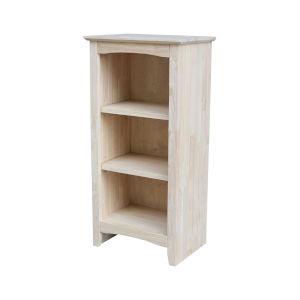 Beige Bookcase with Two Shelves