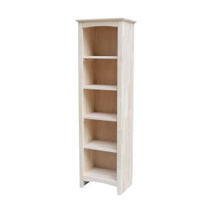 Beige Bookcase with Four Shelves