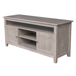Gray Wash and Taupe 57-Inch TV Stand with Two Door