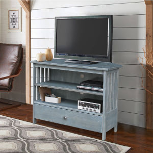 Antique Heathered Gray 35-Inch TV Stand