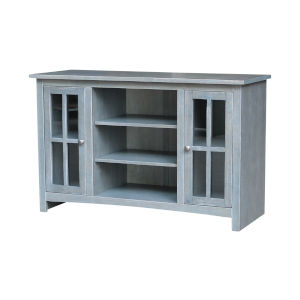 Antique Heathered Gray 48-Inch TV Stand with Two Door