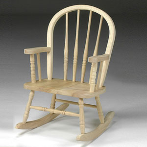 Windsor Unfinished Wood Children's Rocker