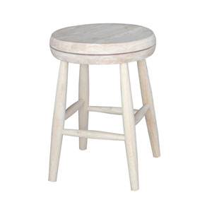 Swivel Scooped Seat Stool - 18-inch Seat Height