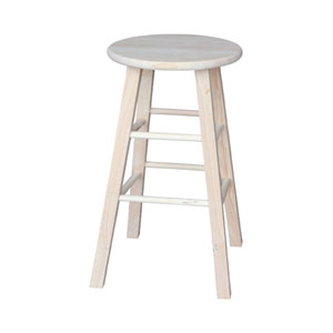 Seating-Stools Unfinished Wood Round Top Stool