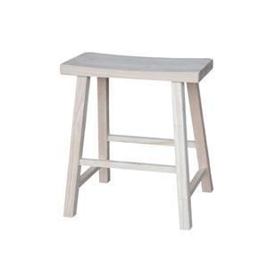 24-Inch Unfinished Wood Saddle Seat Stool
