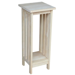 Mission Unfinished 30-Inch Wood Plant Stand