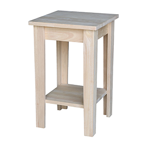 Unfinished Solid Wood Shaker Plant Stand