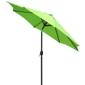 Market Umbrella Lime Green 9 Foot - Steel Pole