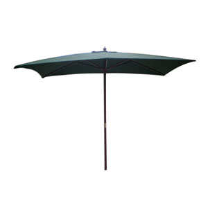 Market Umbrella Hunter Green Rectangular Market Umbrella