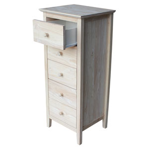 Unfinished Lingerie Chest with 5 Drawers
