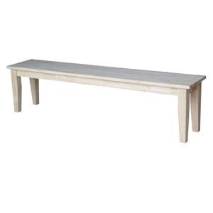 Unfinished Shaker Style Bench