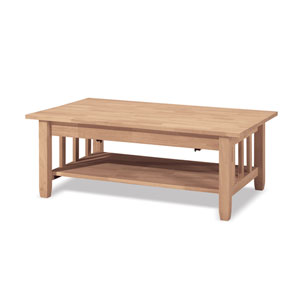 Mission Tall Coffee Table with Lift Top