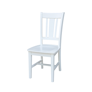 San Remo Splatback Dining Chair in White - Set of Two