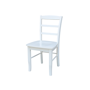 Madrid Ladderback Dining Chair in White - Set of Two