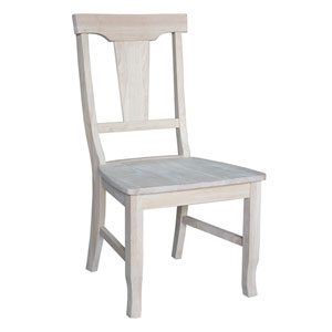 Seating Unfinished Wood Roma Ladderback Chair Unfinished Set of Two