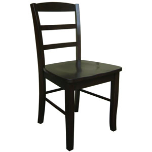 Dining Essentials Java Set of Two Madrid Ladder Back Chairs