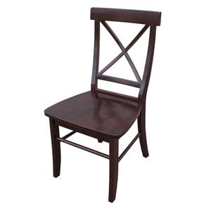 Rich Mocha 36.4-Inch X-Back Chair, Set of Two