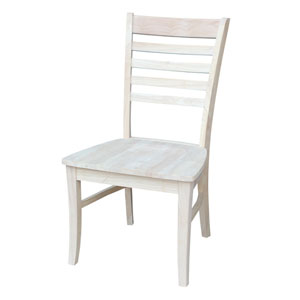 Roma Dining Chair Unfinished Ladder Back, Set of Two