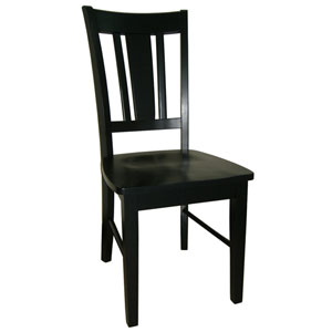 Dining Essentials Black Set of Two San Remo Splatback Chairs