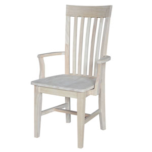 Mission Tall Dining Arm Chair Unfinished