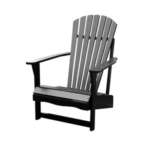 Black Outdoor Adirondack Chair